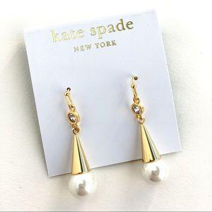 Kate spade cone pearl earrings